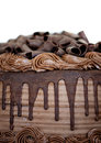 Close-up of Chocolate Cake Royalty Free Stock Photo