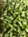 Chopped yard long bean