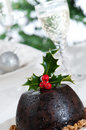Close Up Christmas Pudding Stock Photos