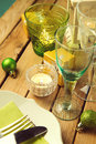 Close up of Christmas table setting Royalty Free Stock Photo