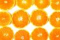Close up citrus fruit of orange slices on white background stock photo Stock Photos
