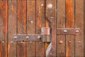 Close up closed wooden door Royalty Free Stock Photo