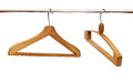 Close up of cloth hangers in row Royalty Free Stock Photography