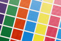 Close-up of cmyk test print from above Royalty Free Stock Photo