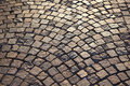 Close-up of cobbles surface Royalty Free Stock Photos