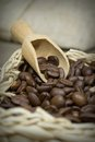 Close up of coffee beans Royalty Free Stock Photo