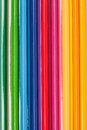 Close up of color pencils on colorful background the Stock Image