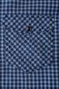 Close-up of colored pocket on shirt Royalty Free Stock Photo