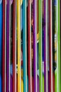 Close up of colorful children encyclopedia foredges vertical abstract Royalty Free Stock Photo
