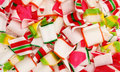 Close up colorful crushed ribbon candy Royalty Free Stock Photo