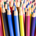 Close up of colorful pencil tips Royalty Free Stock Photo