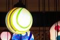 Close up colorful shining hanging lamp ball Royalty Free Stock Photo