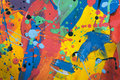 Close up of colorful simply abstract painting Royalty Free Stock Photo