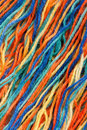 Close-up of colorful threads Royalty Free Stock Photos