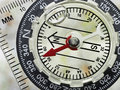 Close Up of Compass Face Royalty Free Stock Photo