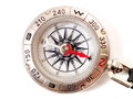 Close up of a compass isolated on white background Royalty Free Stock Image