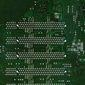 Close up of computer circuit board in the green Stock Images