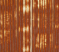 Close up of corrugated metal with rust Stock Photos