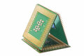 Close up of CPU processors (pyramid) Royalty Free Stock Photo