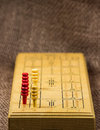 Close-up Cribbage Board Royalty Free Stock Photo