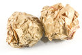 Close-up of crumpled paper ball Royalty Free Stock Photo