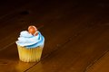A close up cup cake decoration Stock Photography