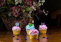 A close up cup cake decoration Stock Photos