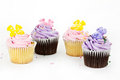 A close up cup cake decoration Royalty Free Stock Photos