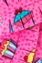 Close Up Cupcake Scarf Stock Photo