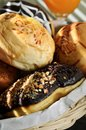 Close up of a delicious bread in a morning light Royalty Free Stock Photos