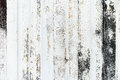 Close-up detail of grunge paint on rusty white metal wall. Royalty Free Stock Photo