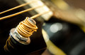 Close up detail of guitar string Royalty Free Stock Image