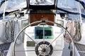 Close up detail of sailing yacht Royalty Free Stock Photo