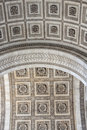 Close up details the arc de triomphe in paris france Stock Images