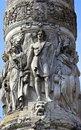 Close up details on the congress column in brussels belgium Royalty Free Stock Photography