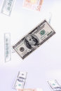 Close up of dollar bill details Stock Photography