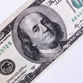 Close up of dollar bill details Royalty Free Stock Photo