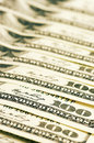Close up of dollar bills one hundred Stock Images