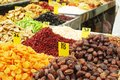 Close up of dried fruits Royalty Free Stock Photo
