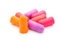 Close-up ear plugs stoppers for protection against noise Royalty Free Stock Photo