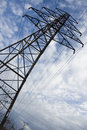 Close up of  electrical pylon Royalty Free Stock Photo