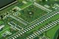 Close up of electronic circuit board green Stock Photography