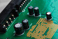 Close up of electronic circuit board Royalty Free Stock Photo