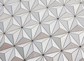 Close up of the Epcot ball Royalty Free Stock Images