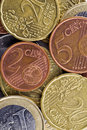Close-up of euro coins Stock Image