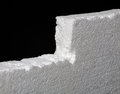 Close up of expanded polystyrene on black background closeup Stock Photography