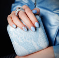 Close-up of an extravagant clutch bag Royalty Free Stock Photo