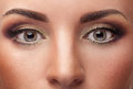 Close up eyes with make up Royalty Free Stock Photo