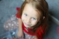 Close up face of a beautiful blue eyed little cute girl this image has attached release Stock Image