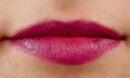 Close-up face of beauty young woman, red lips Royalty Free Stock Photo